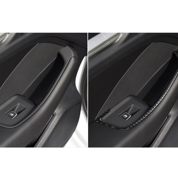 Carbon Fiber Door Handles Frame Cover Trim Sticker for A3 8V 2014-2019 - Pinalloy Online Auto Accessories Lightweight Car Kit