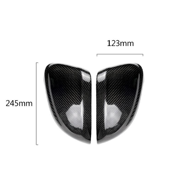 Pinalloy Real Carbon Fiber Replacement Side Mirror Cover For Audi A4 B9 2016+ /A5 B9 2017+ (with lane change) - Pinalloy Online Auto Accessories Lightweight Car Kit