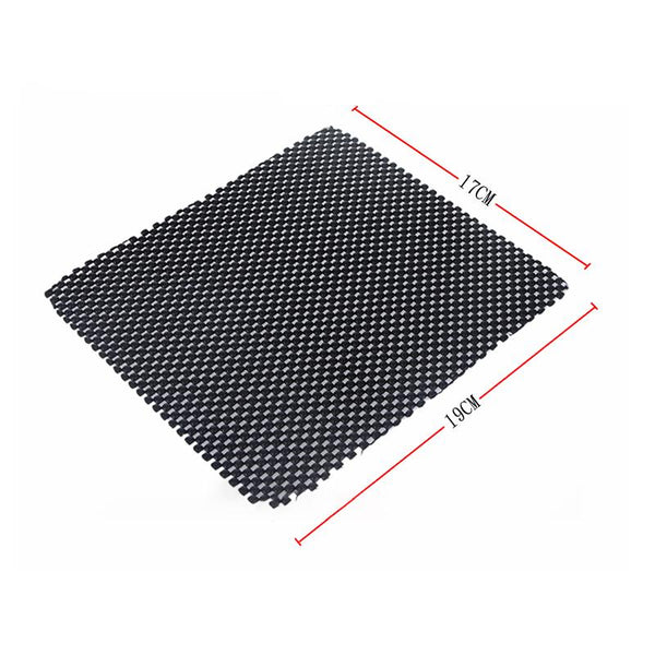 Anti-Slip PVC Mat for Cell Phone, Pad, GPS, Sunglasses, Keys, etc (Black-car Skin Pattern, 19xX17cm) - Pinalloy Online Auto Accessories Lightweight Car Kit