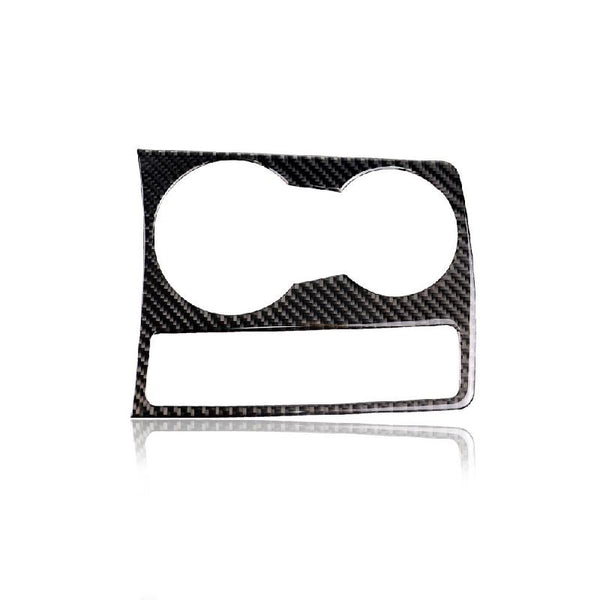 Carbon Fiber Cup Holder Trim Frame Sticker for Audi A4 B8 2009-2016 - Pinalloy Online Auto Accessories Lightweight Car Kit