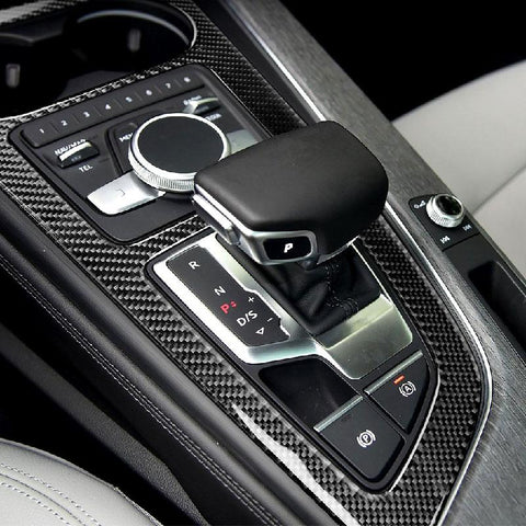 ABS Carbon Fiber Layer Gear Shift Knob Console Panel Cover For 2016-2018 Audi A4L A5 B9 - Pinalloy Online Auto Accessories Lightweight Car Kit