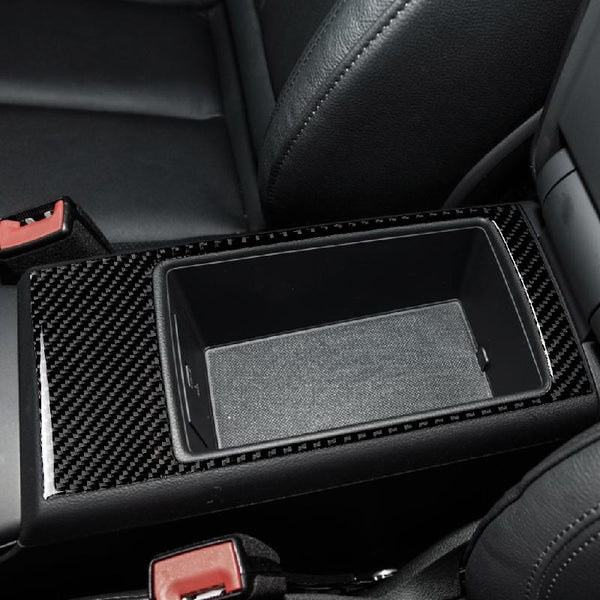 Carbon Fiber Armrest Box Panel Sticker For Audi A3 8V 2014 - 2019 - Pinalloy Online Auto Accessories Lightweight Car Kit