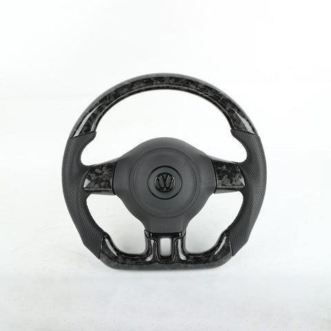 Pinalloy Forged Carbon Fiber Re-manufactured Steering Wheel For VW MK6 (Non multi-function)