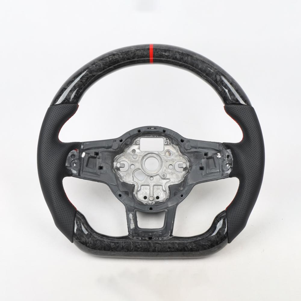 Pinalloy Forged Carbon Fiber Remanufactured Steering Wheel For VW MK7 GTI 2015+