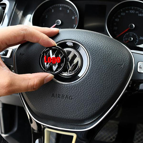 ABS Interior Steering Wheel Emblem for VW Golf Marks Model