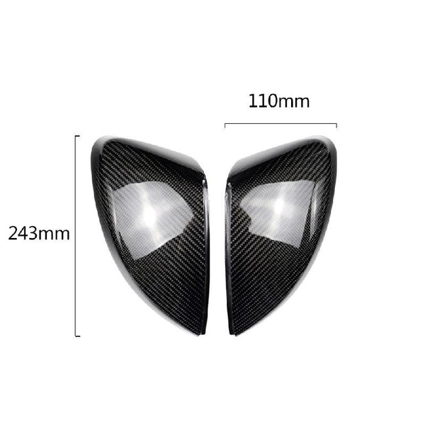 Pinalloy Carbon Fiber Side Mirror Covers Caps For Audi A3 2013+ - Pinalloy Online Auto Accessories Lightweight Car Kit