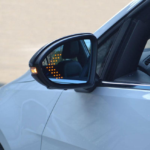 LED Side Mirror with Yellow Turn Signal Arrows for VW MK7 2014+