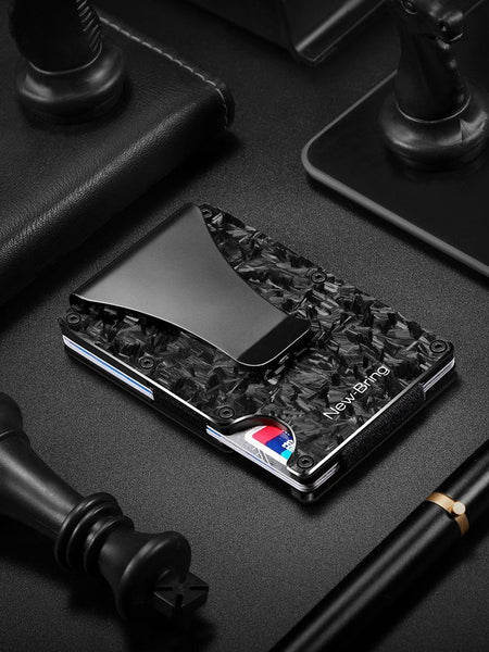 Forged Carbon Fiber Anti-Theft Proficient Multi-Function Card Holder Money Bill Clip