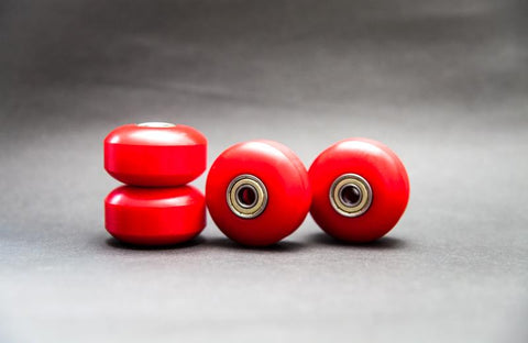(Set of 4) 52mm 100A PU Red Skateboard Wheels Cruiser Rollen (608ZZ ABEC 7 & Spacers) - Pinalloy Online Auto Accessories Lightweight Car Kit