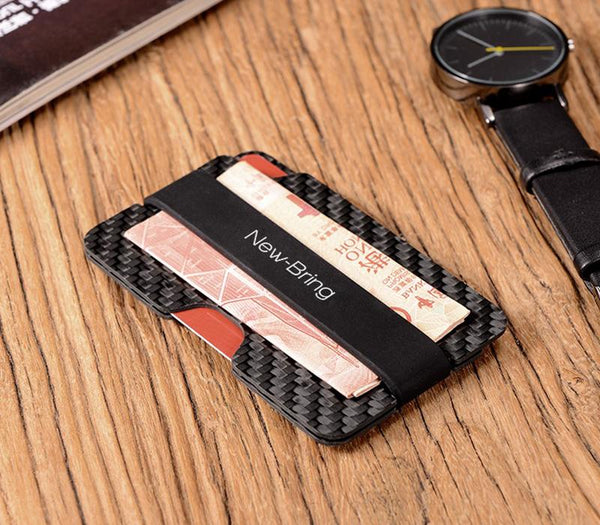 Real Carbon Fiber Anti-Theft Proficient Slim Card Holder Money Bill Clip - Pinalloy Online Auto Accessories Lightweight Car Kit