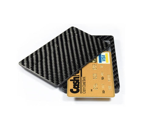 Magnetic Real Carbon Fiber Credit Card Travel Card Card Holder Case - Pinalloy