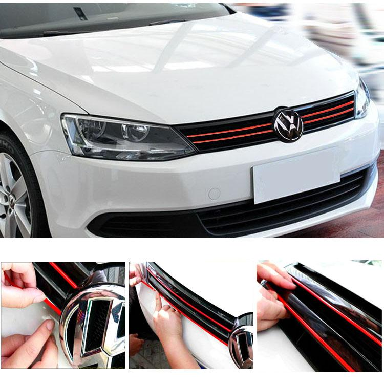 Pinalloy Mesh Front Grill Red Sticker Line Liner For VolksWagen VW Golf MK7 MK7.5 - Pinalloy Online Auto Accessories Lightweight Car Kit