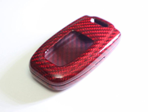 Pinalloy Deluxe Real Red Carbon Fiber Remote Key-less Key Cover Case Skin Shell for Audi - Pinalloy Online Auto Accessories Lightweight Car Kit