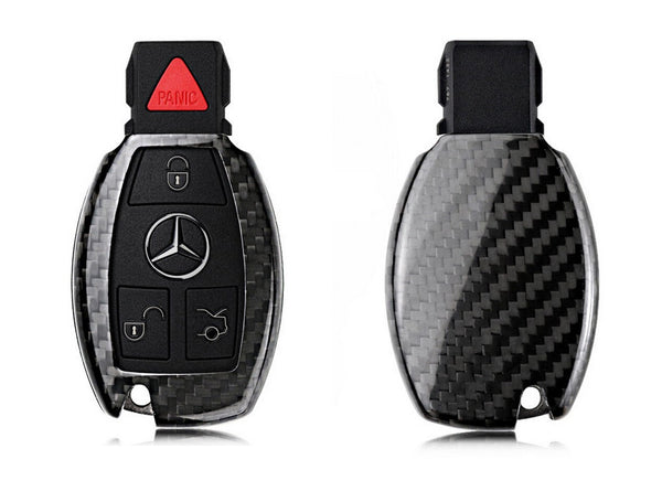 Deluxe Real Carbon Fiber Remote Key Cover Case Shell for Mercedes Benz - Pinalloy Online Auto Accessories Lightweight Car Kit
