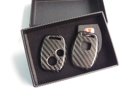 Deluxe Carbon Fiber Key Fob Cover Shell Case for HONDA TYPE R CIVIC JAZZ FIT