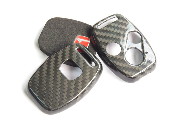 Deluxe Carbon Fiber Key Fob Cover Shell Case for HONDA TYPE R CIVIC JAZZ FIT - Pinalloy Online Auto Accessories Lightweight Car Kit