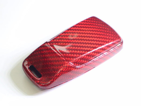 Pinalloy Real Red Carbon Fiber Case Cover for 2016-2018 Audi Keyless Smart Key - Pinalloy