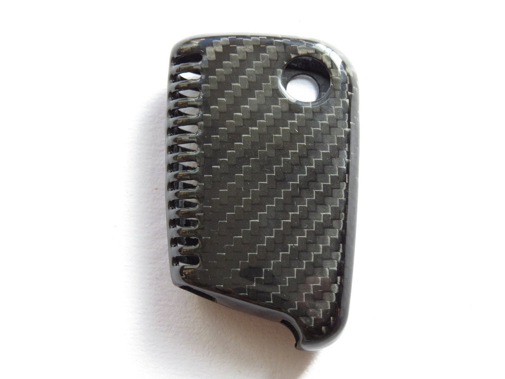 Deluxe Real Pure Carbon Fiber Key Cover Case Skin Shell Fob For Vw Gol Pinalloy