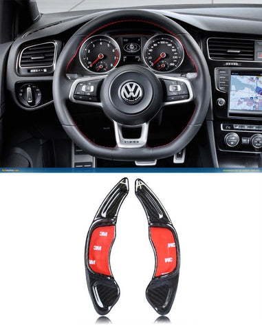 Pinalloy Real Carbon Fiber Steering Paddle Shifter Extension for VW Golf MK7 Scirocco GTi R
