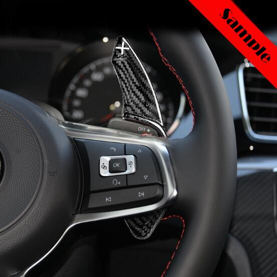 Pinalloy Real Carbon Fiber Steering Paddle Shifter Extension for VW Golf MK7 Scirocco GTi R - Pinalloy