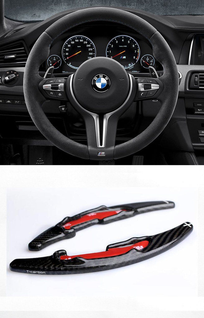 Pinalloy 100% Real Carbon Fiber Steering Wheel Paddle Shifter Extension For BMW M3 M4 M5 M6 - Pinalloy