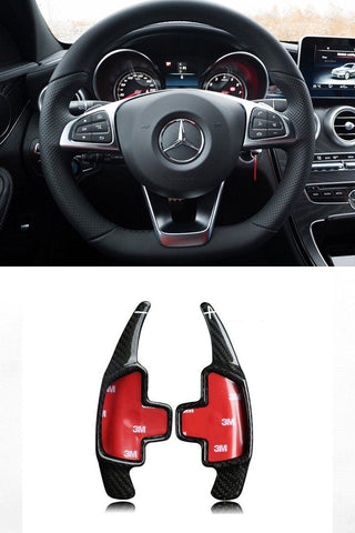 Pinalloy Real Carbon Fiber Paddle Shifter Extension For Mercedes Benz C Series 2015 - 2016 - Pinalloy