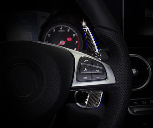 Pinalloy Real Carbon Fiber Paddle Shifter Extension For Mercedes Benz C Series 2015 - 2016