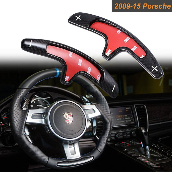 Pinalloy Real Carbon Fiber PDK Paddle Shifter Extensions PDK For 2009-15 Porsche 911 Boxster Cayenne Panamera - Pinalloy Online Auto Accessories Lightweight Car Kit