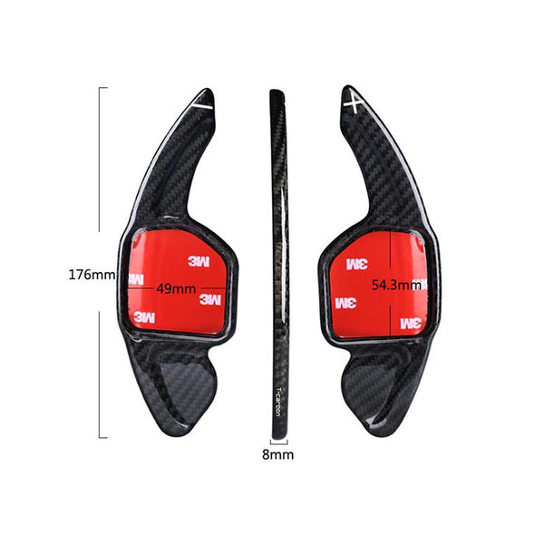 Pinalloy Carbon Fiber Steering Paddle Shifter Extension for Audi 2008-16 A3 A4 A5 A6 (Flat) - Pinalloy