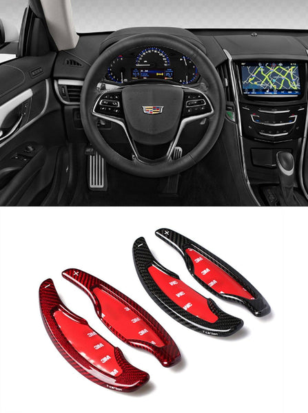 Pinalloy Real Carbon Fiber DSG Paddle Shifter Extensions for Cadillac ATS ATS-L CT6 2014-2018 - Pinalloy Online Auto Accessories Lightweight Car Kit