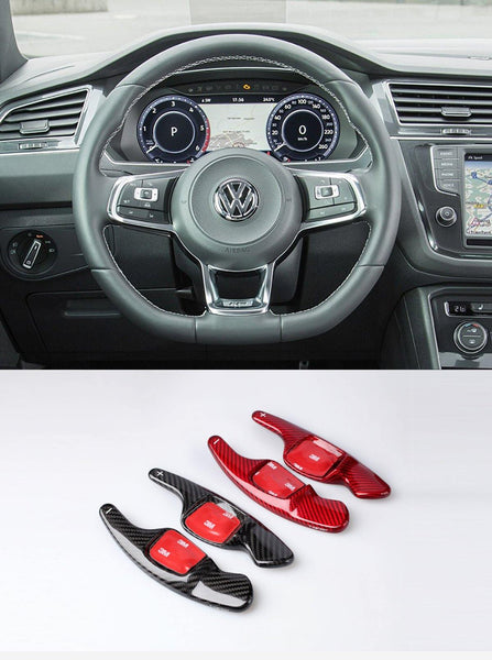Pinalloy Real Carbon Fiber DSG Steering Paddle Shifter Extension for Volkswagen VW Tiguan L - Pinalloy