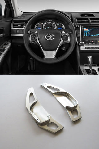 Pinalloy Silver Alloy Steering Wheel Extension Paddle Shift Extension for Toyota Corolla Camry 2010 - 2015 - Pinalloy