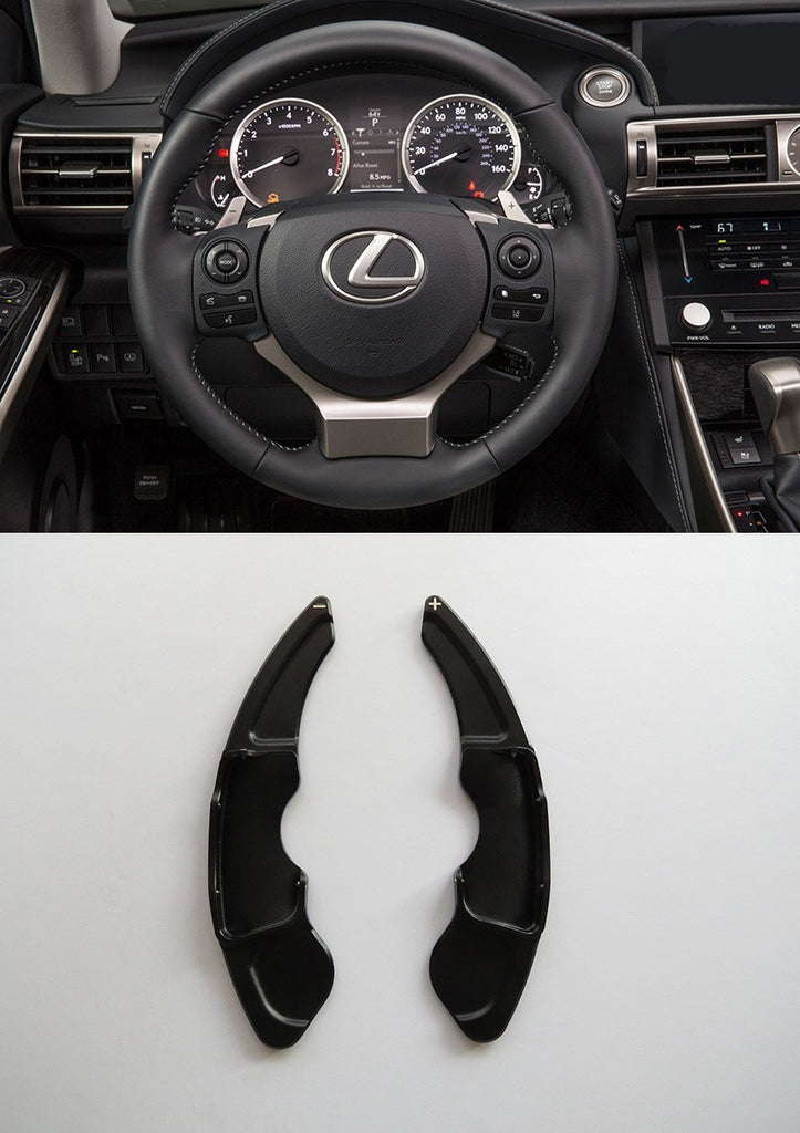 Pinalloy Black Metal Paddle Shifter Extension for Lexus NX200T 300H IS200T RC - Pinalloy