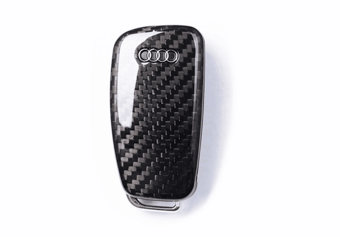 Deluxe Real Carbon Fiber Remote Flip Key Cover Case Skin Shell for Audi A3 A4 TT - Pinalloy Online Auto Accessories Lightweight Car Kit