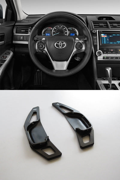 Pinalloy Black Alloy Steering Wheel Extension Paddle Shift Extension for Toyota Corolla Camry 2010 - 2015 - Pinalloy