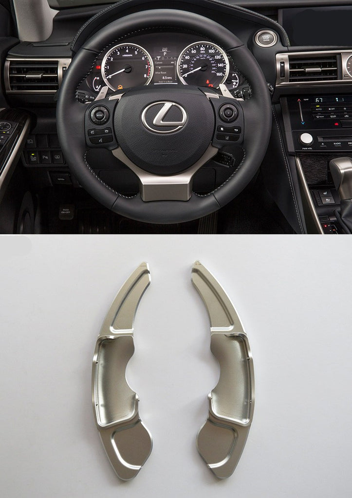 Pinalloy Silver Metal Paddle Shifter Extension for Lexus NX200T 300H IS200T RC - Pinalloy Online Auto Accessories Lightweight Car Kit
