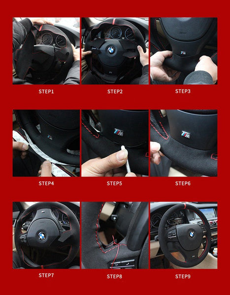 Pinalloy Synthetic Cashmere Steering Wheel Cover for Volkswagen Golf 6 7 MK 6 7 GTI POLO - Pinalloy