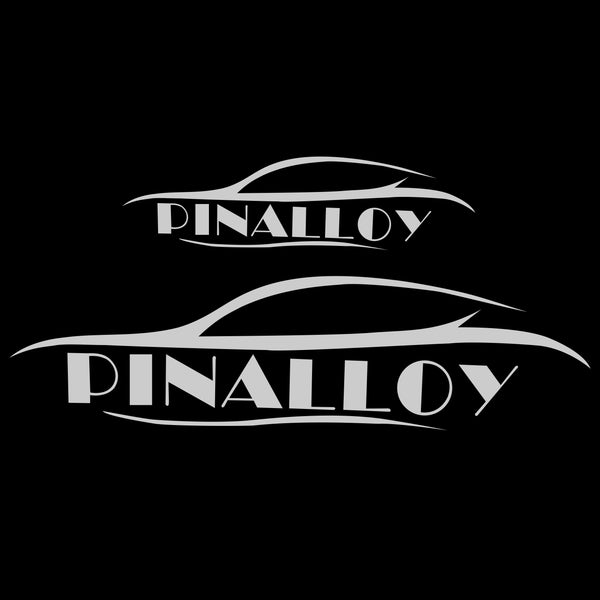 Pinalloy Logo Decal Car Sticker - Pinalloy Online Auto Accessories Lightweight Car Kit