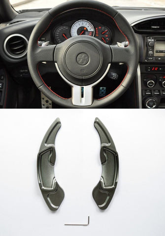 Pinalloy Grey Alloy Steering Wheel Paddle Shifter Extension for GT86 FRS BRZ