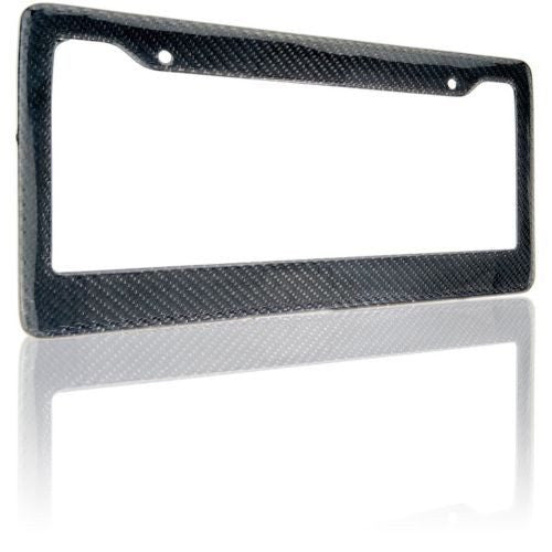 2PCS 100/% Real Carbon Fiber License Plate Frame Cover Black Auto Tag 3K