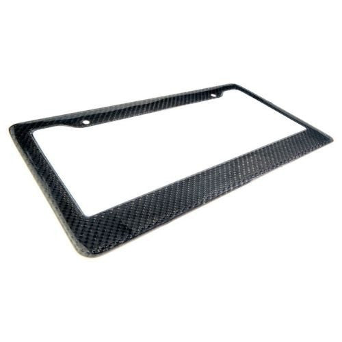 "Pinalloy Real 100% Carbon Fiber License Plate 12"" x 6"" Frame Cover Original 3K - Pinalloy Online Auto Accessories Lightweight Car Kit"