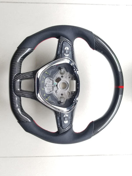 Pinalloy Carbon Fiber Sport Remanufactured Steering Wheel For Volkswagen VW MK7 - Pinalloy Online Auto Accessories Lightweight Car Kit