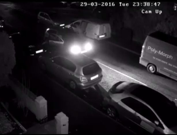 CCTV footage captures alleged £3,000 theft of tools from business van
