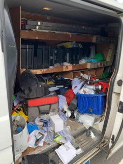 VANDALS broke into a white van in broad daylight stealing over £5,000 worth of tools, leaving a devastated man jobless.