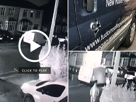 CCTV shows 3 van break-ins in a single night