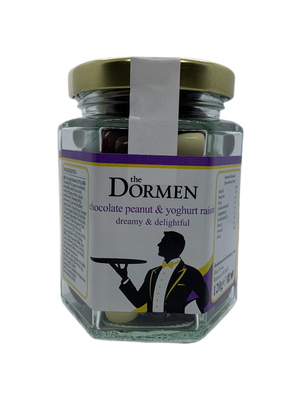 Chocolate Peanut & Yoghurt Raisins Hexagonal Jar - The Dormen Food Company