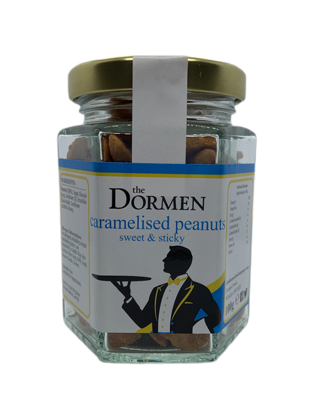 Caramelised Peanuts Hexagonal Jar (Trade) - The Dormen Food Company
