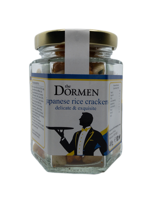 Japanese Rice Crackers Hexagonal Jar - The Dormen Food Company