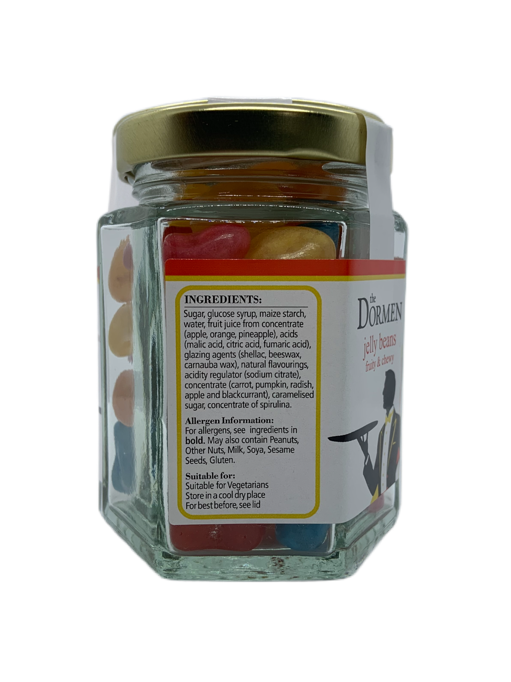 Jelly Beans Hexagonal Jar - The Dormen Food Company