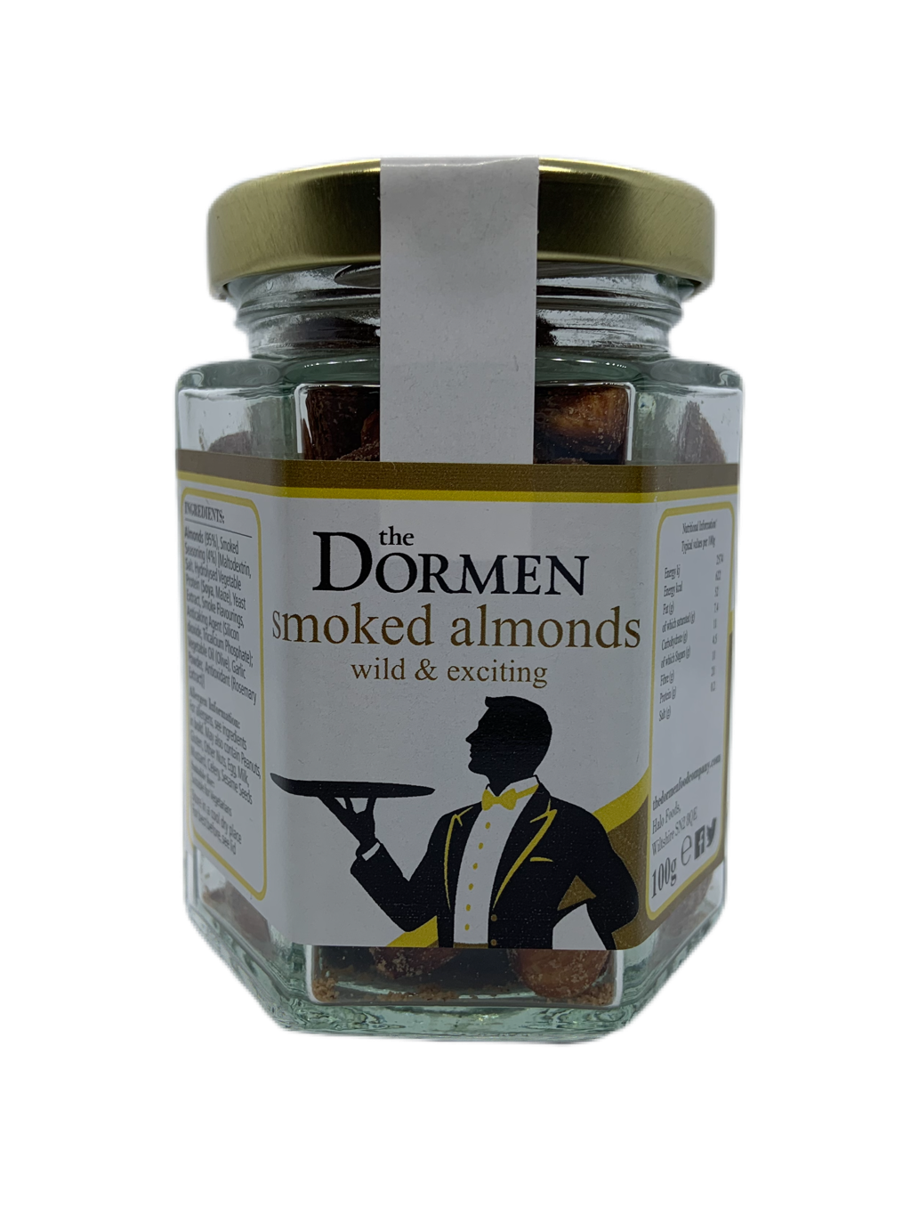 Smoked Almonds Hexagonal Jar (Trade) - The Dormen Food Company
